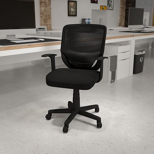 Black Mid-Back Task Chair
