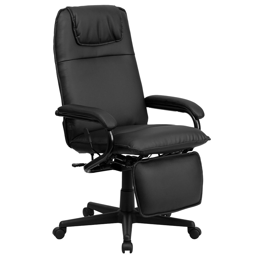 Flash Furniture Black Reclining Leather Chair