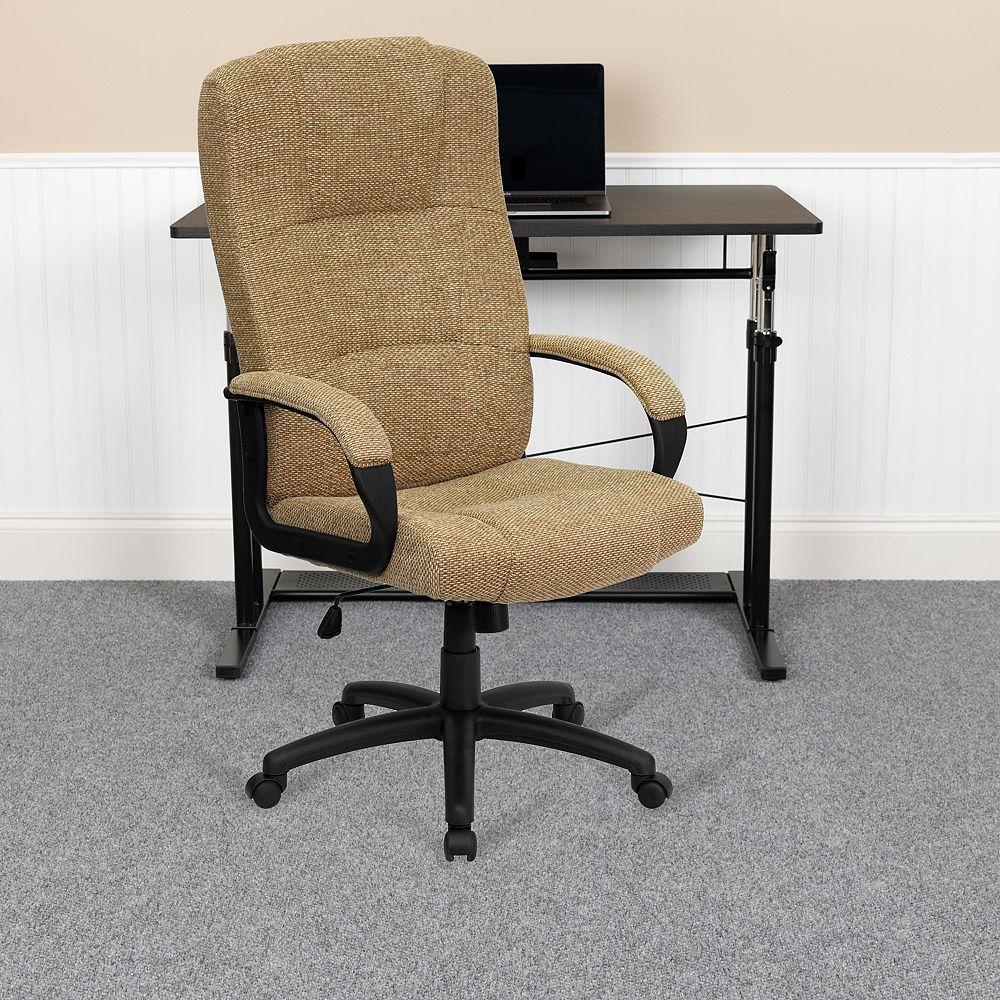 Flash Furniture Beige High Back Fabric Chair