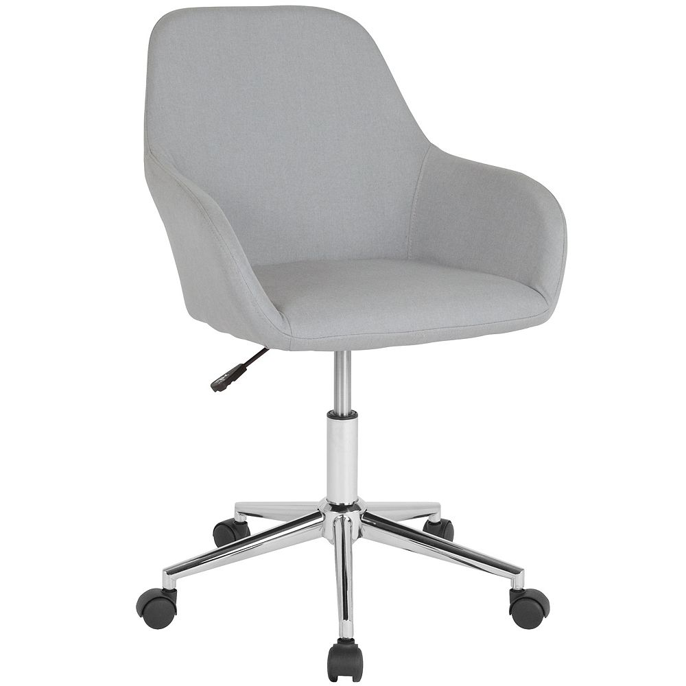 Flash Furniture Lt Gray Fabric Mid-Back Chair