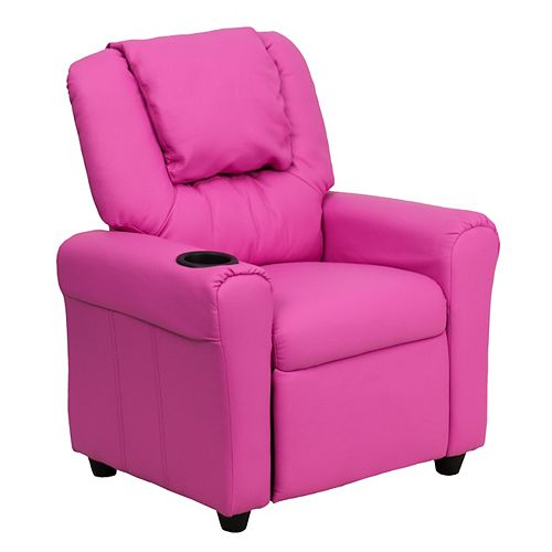 Flash Furniture Hot Pink Vinyl Kids Recliner