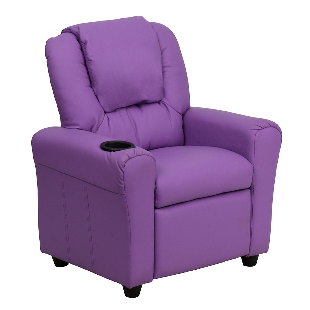 Flash Furniture Lavender Vinyl Kids Recliner