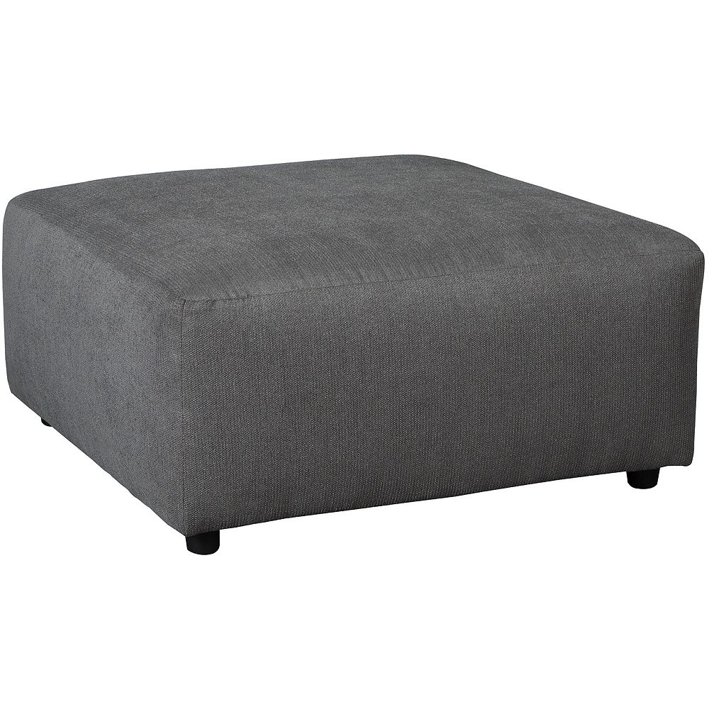 Flash Furniture Signature Design by Ashley Jayceon Oversized Accent Ottoman in Steel Fabric