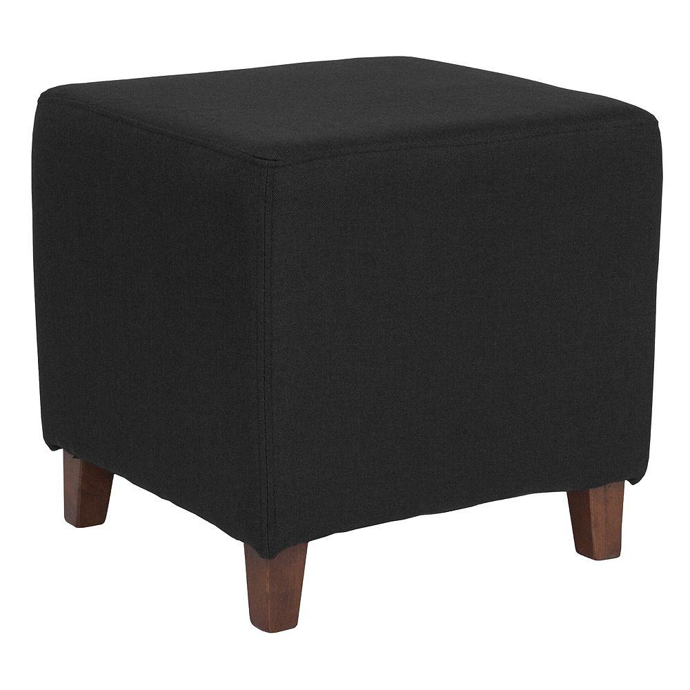 Flash Furniture Black Fabric Ottoman Pouf