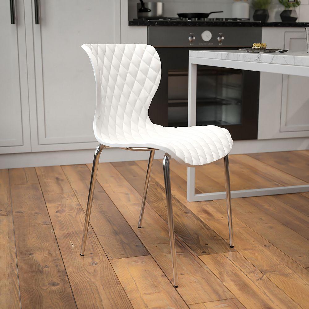Flash Furniture White Plastic Stack Chair