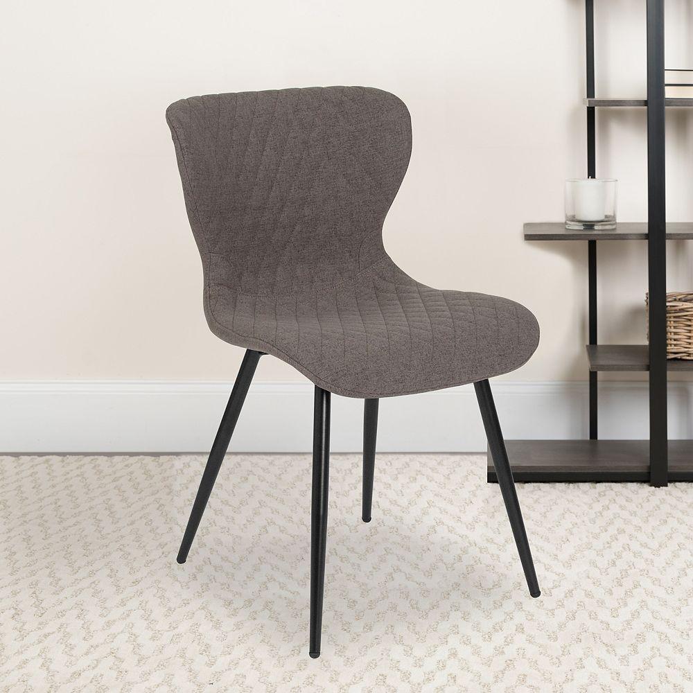 Flash Furniture Gray Vinyl Accent Chair