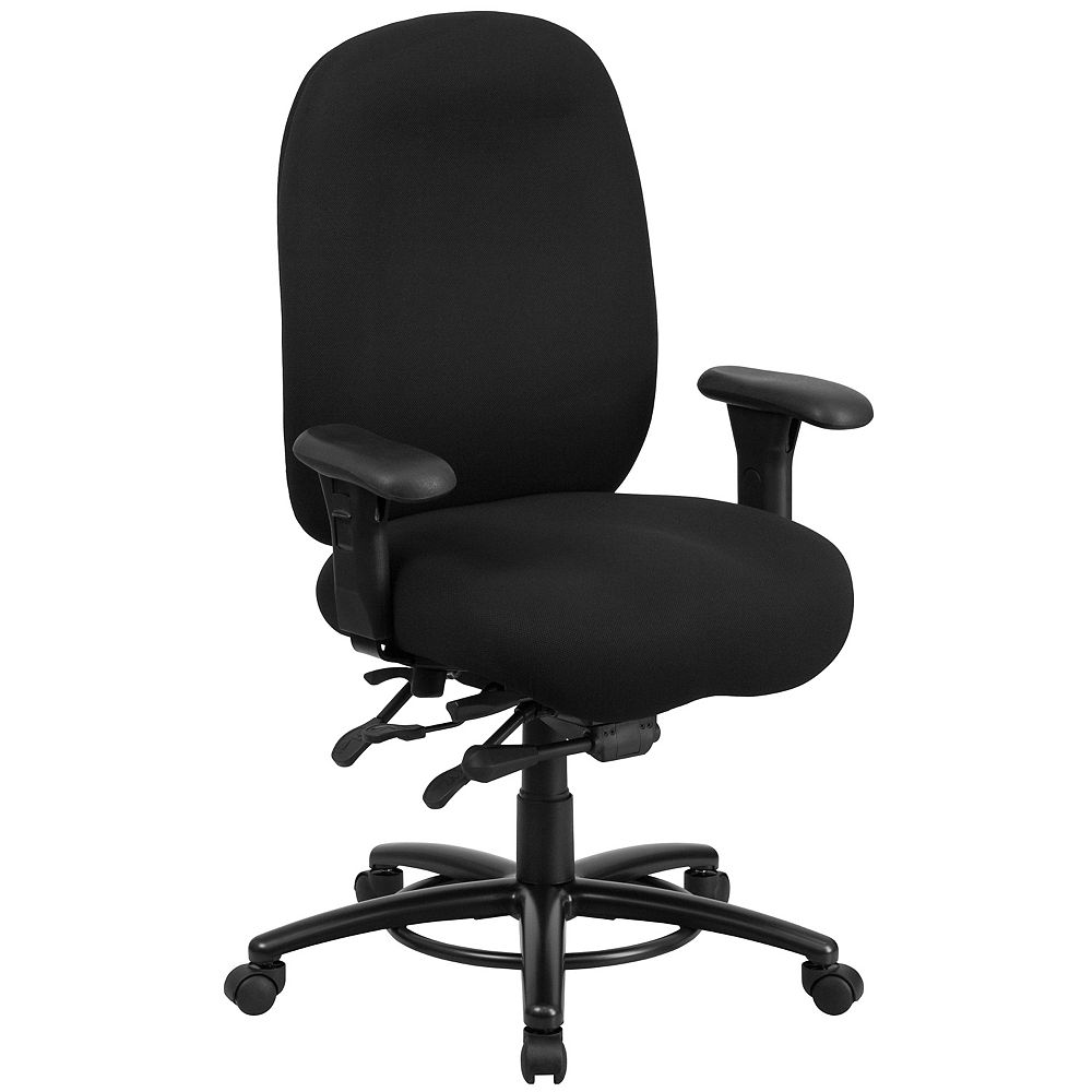 Flash Furniture Black 24/7 Use High Back-350LB