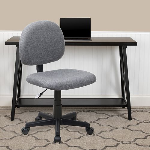 Flash Furniture Mid-Back Gray Fabric Swivel Task Office Chair