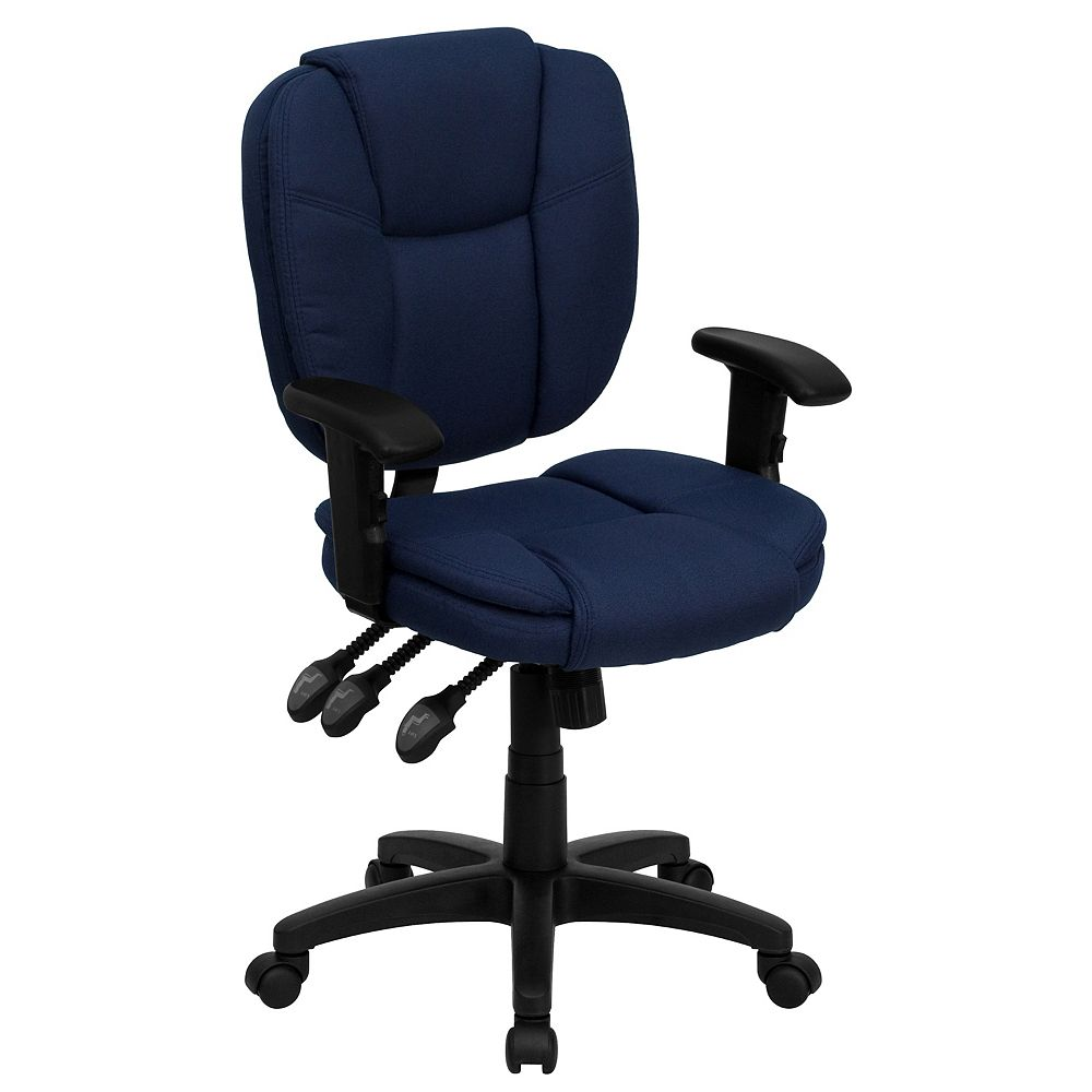Flash Furniture Navy Mid-Back Fabric Chairair