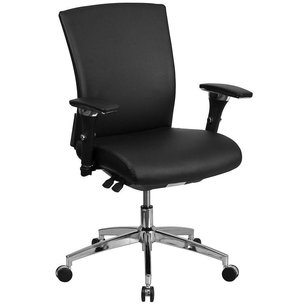 Flash Furniture Black 24/7 Mid-Back-300LB