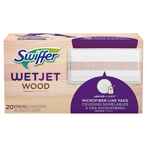 WetJet Wood Mopping Cloth Refills, 20 count