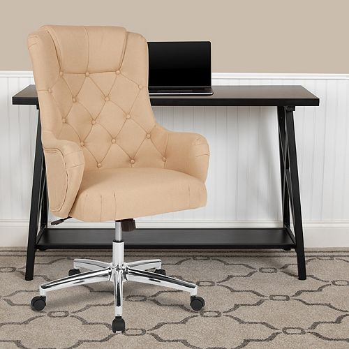 Flash Furniture Chambord Home and Office Upholstered High Back Chair in Beige Fabric