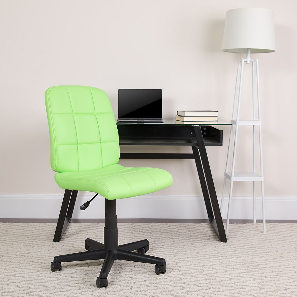 Flash Furniture Mid-Back Green Quilted Vinyl Swivel Task Chair