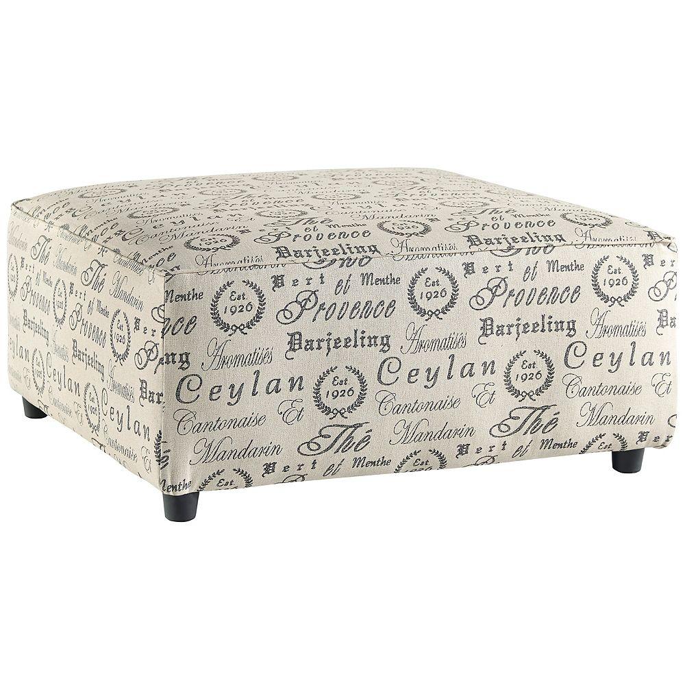 Flash Furniture Pouf d'accent surdimensionné en microfibre quartz avec design exclusif par Ashley Alenya