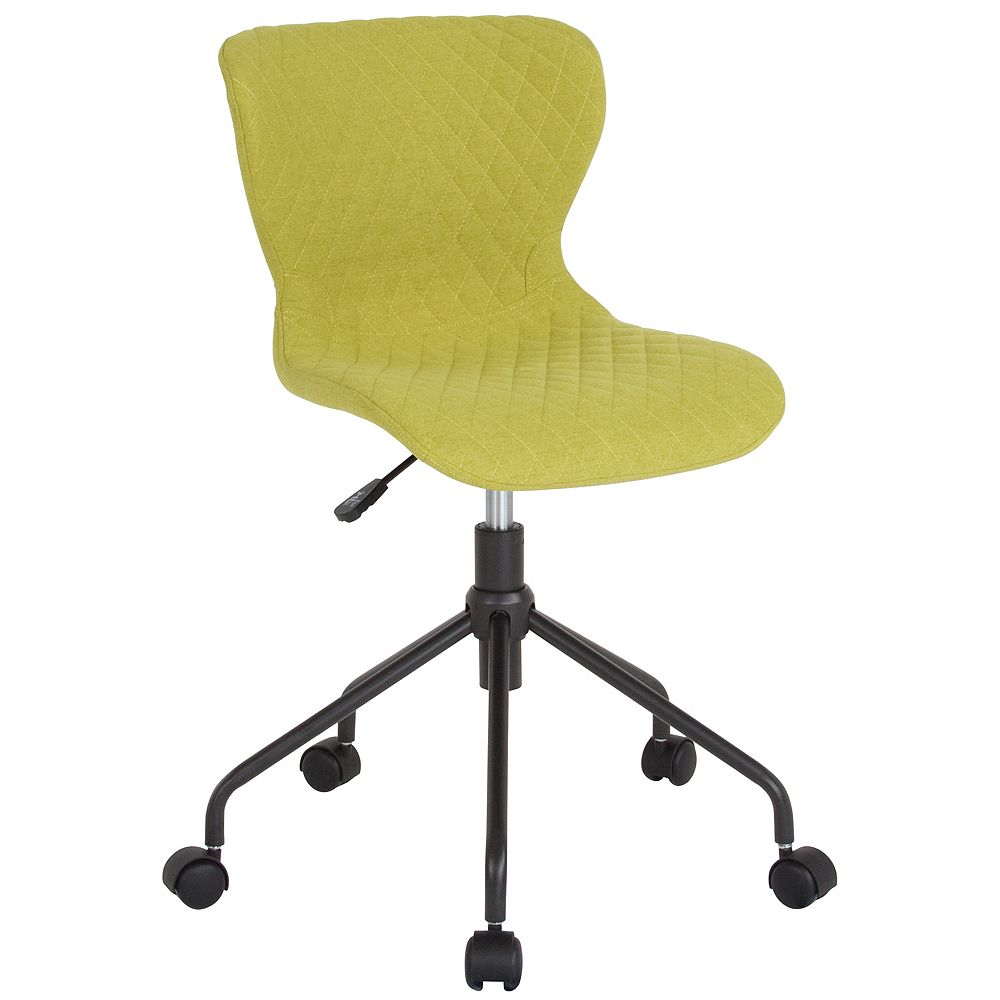 Flash Furniture Somerset Home and Office Upholstered Task Chair in Citrus Green Fabric