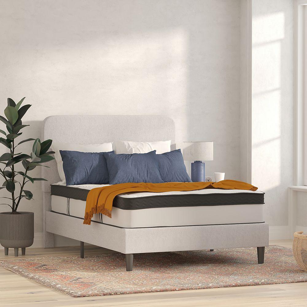 Flash Furniture Matelas Capri Comfortable avec mousse de 12 pouces et à ressorts ensachés, double en boîte