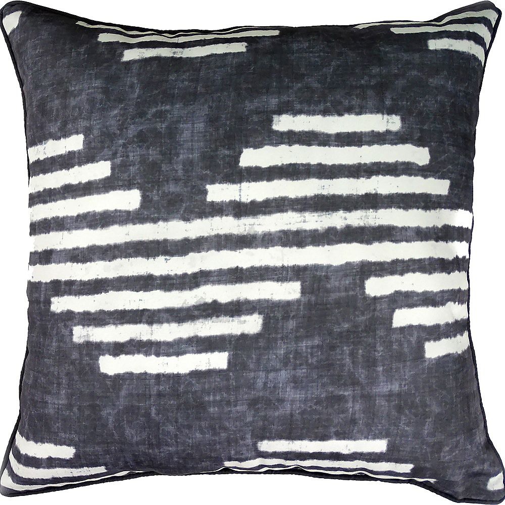 Notre Dame Design Gilford Sofa Patio Indoor and Outdoor Pillow in Blue and White