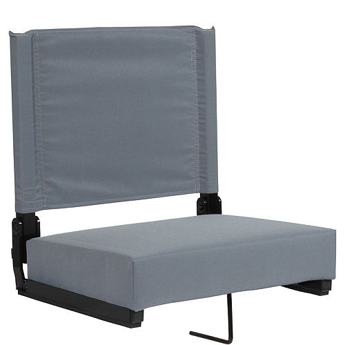 Grandstand Comfort Seats by Flash with Ultra-Padded Seat in Gray