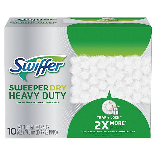 Swiffer Sweeper Heavy Duty Dry Sweeping Cloths (10-Pack)