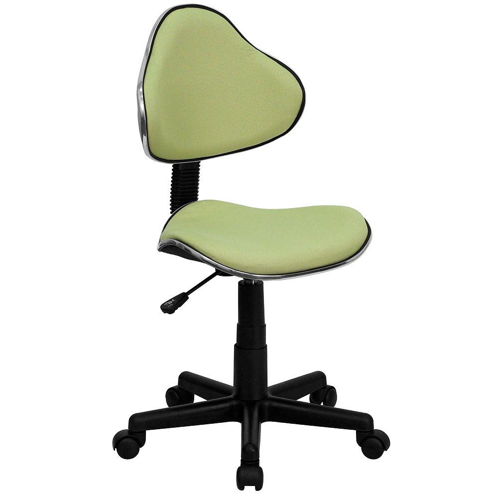 Flash Furniture Chaise de bureau ergonomique pivotante en tissu couleur avocat