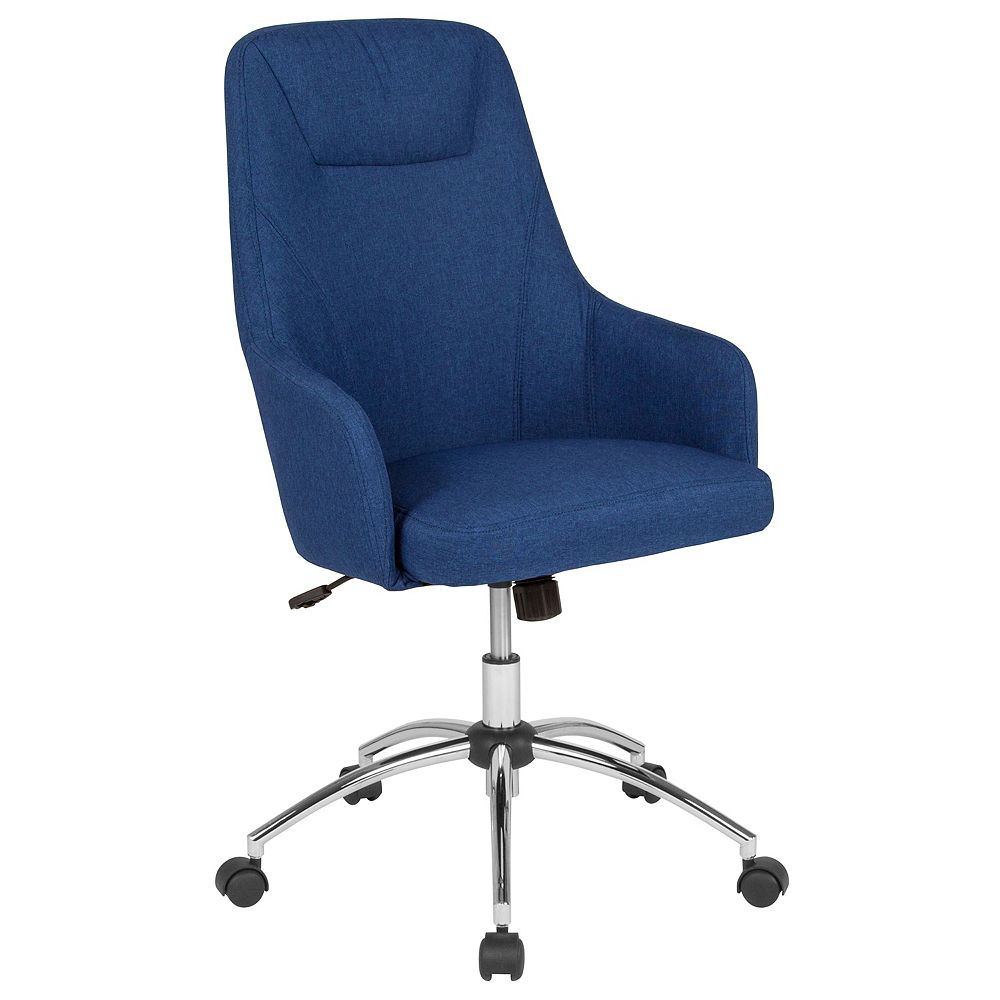 Flash Furniture Rennes Home and Office Upholstered High Back Chair in Blue Fabric