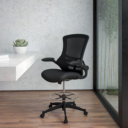 Chaise de dessinateur en maille noire