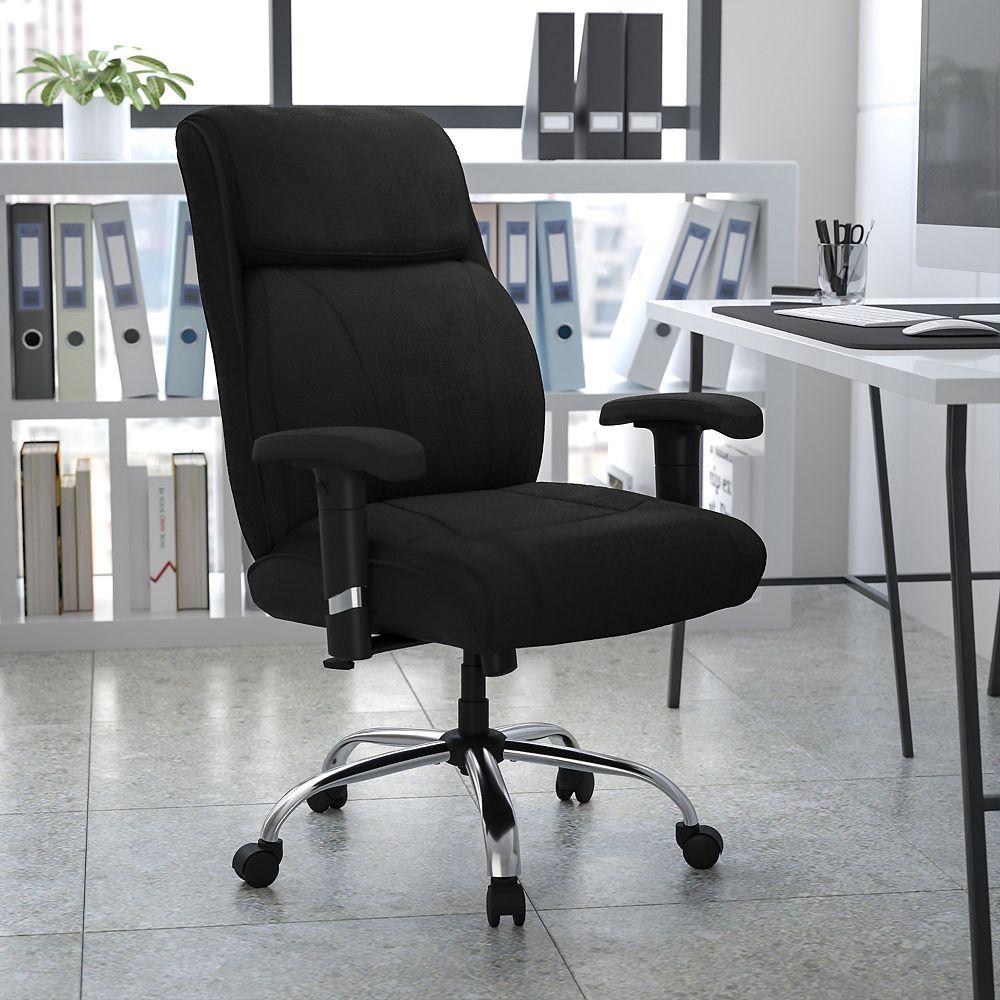 Flash Furniture Black 400LB Mid-Back Chair
