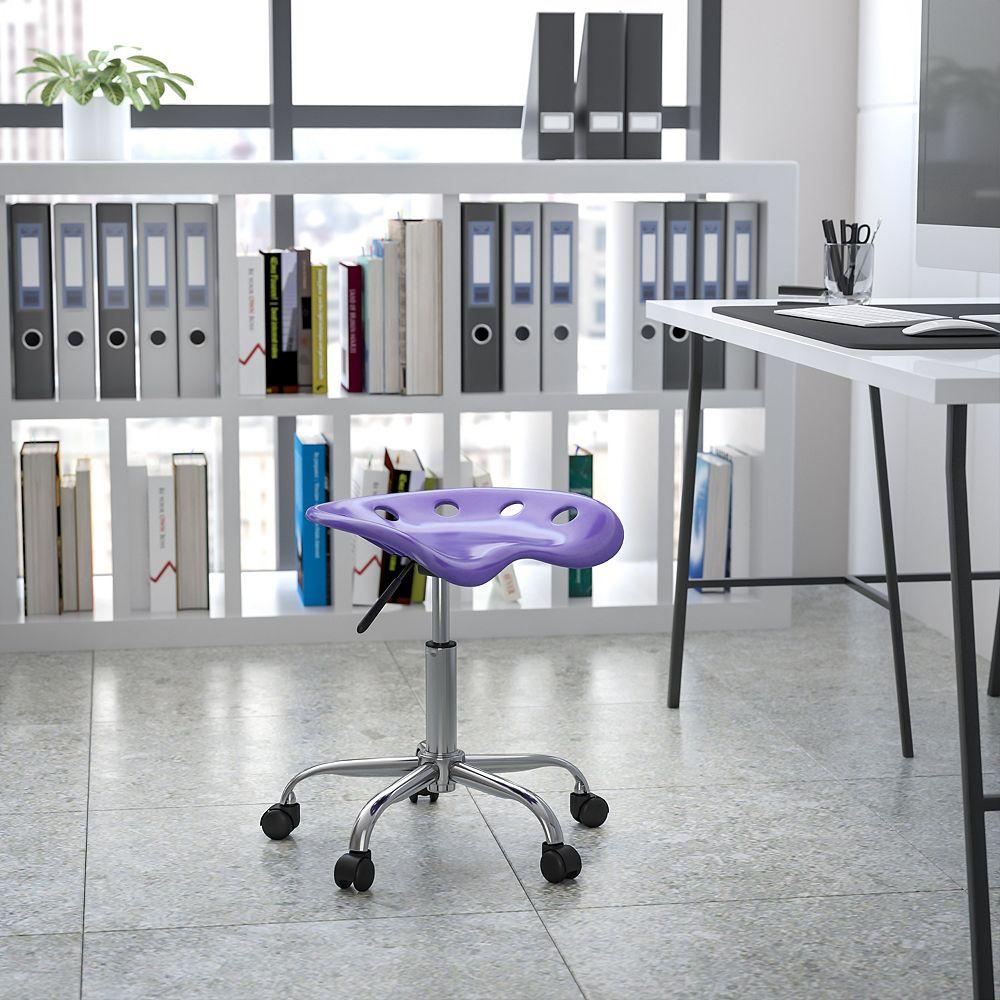 Flash Furniture Siège tracteur violet vibrant et tabouret chromé