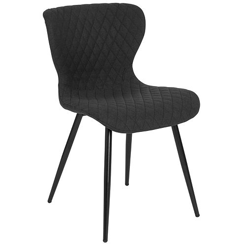 Flash Furniture Bristol Contemporary Upholstered Chair in Black Fabric