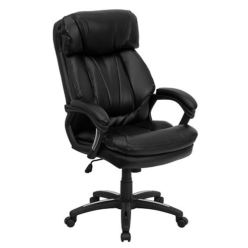 Flash Furniture Black High Back Leather Chair