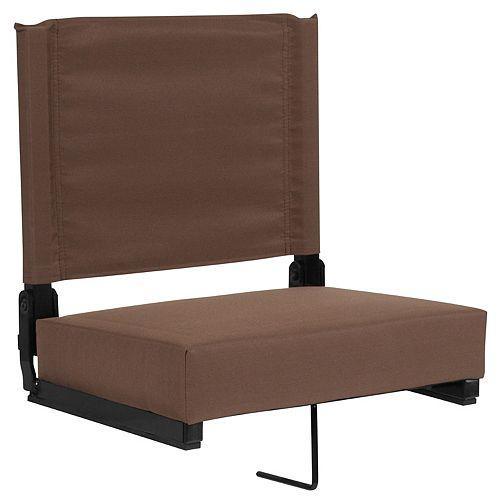 Flash Furniture Sièges confortables par Flash ultra rembourrés en brun