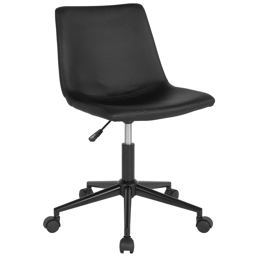 Flash Furniture Siena Home and Office Task Chair in Black Leather