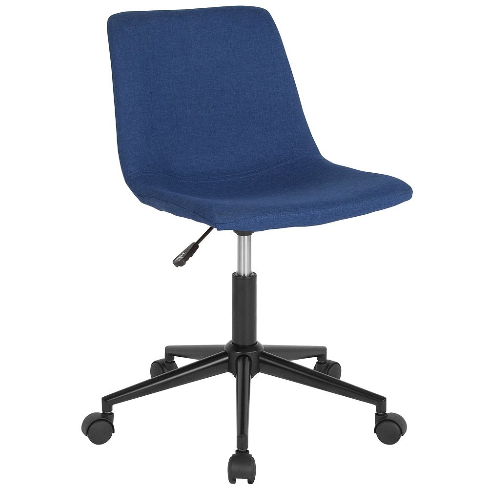 Flash Furniture Siena Home and Office Task Chair in Blue Fabric