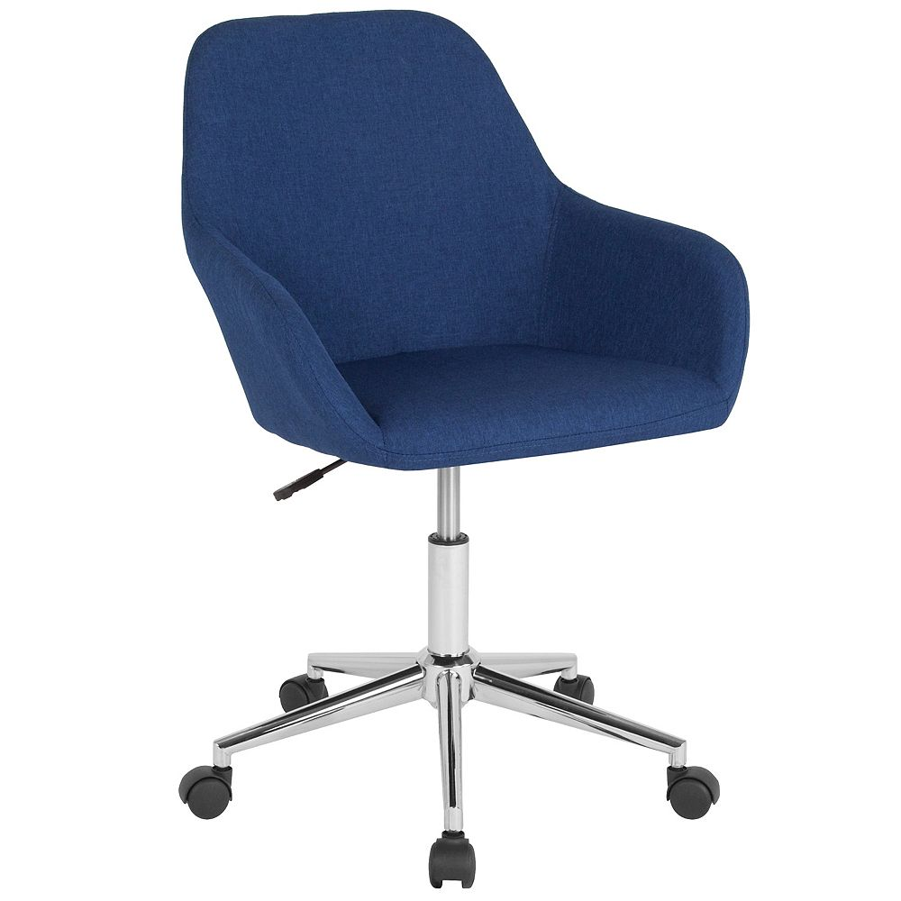 Flash Furniture Cortana Home and Office Mid-Back Chair in Blue Fabric