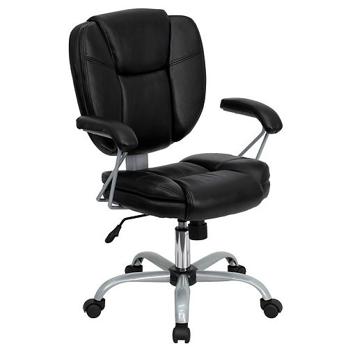 Flash Furniture Black Mid-Back Task Chair