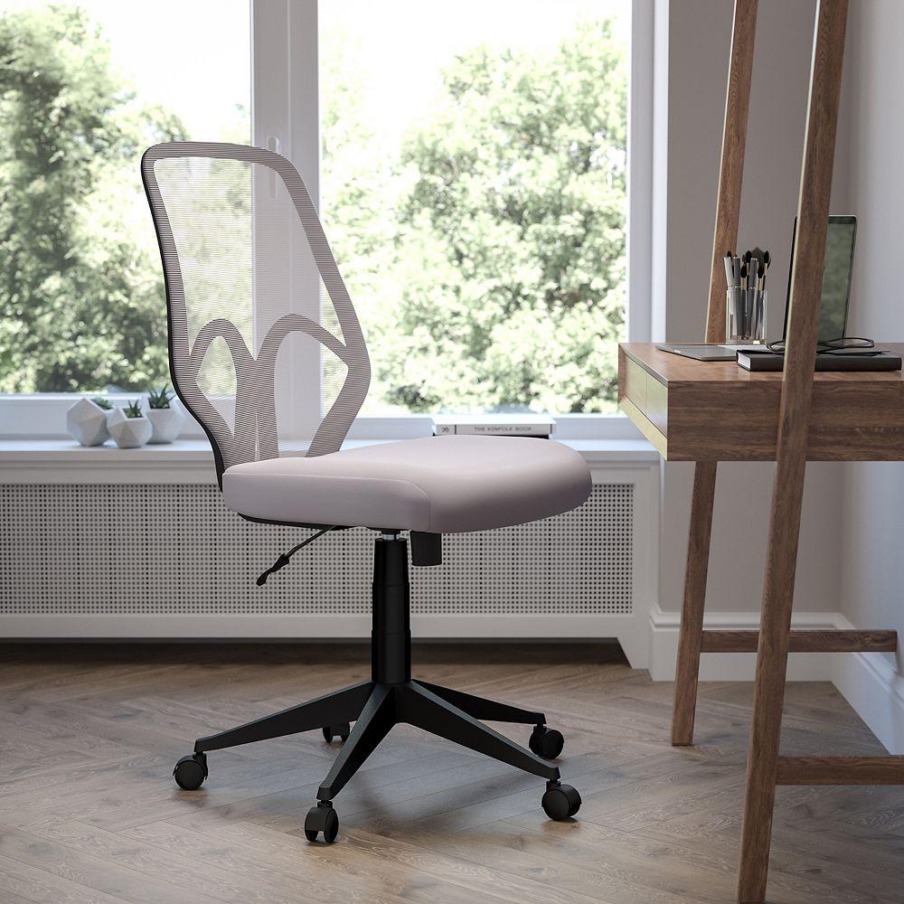 Flash Furniture Salerno Series High Back Light Gray Mesh Office Chair