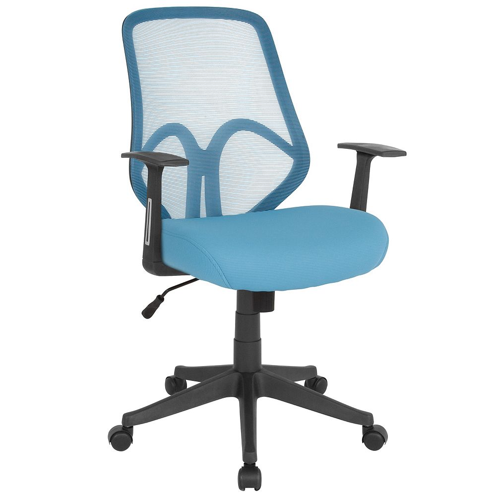 Flash Furniture Salerno Series High Back Light Blue Mesh Office Chair with Arms
