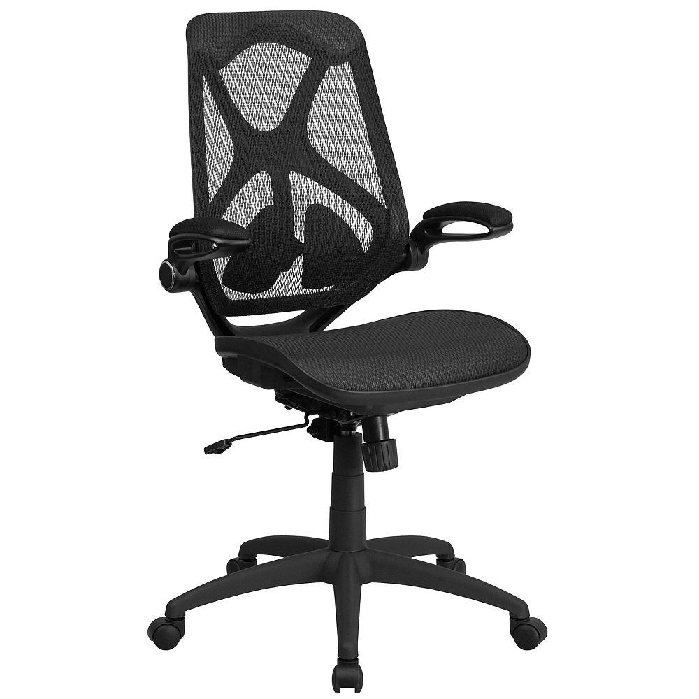 Flash Furniture Black High Back Mesh Chair