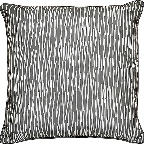 Chantilly Sofa Patio Indoor and Outdoor Pillow in Grey and White