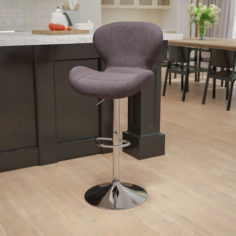 Flash Furniture Charcoal Fabric Barstool