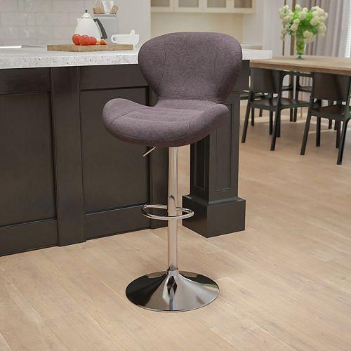 Charcoal Fabric Barstool