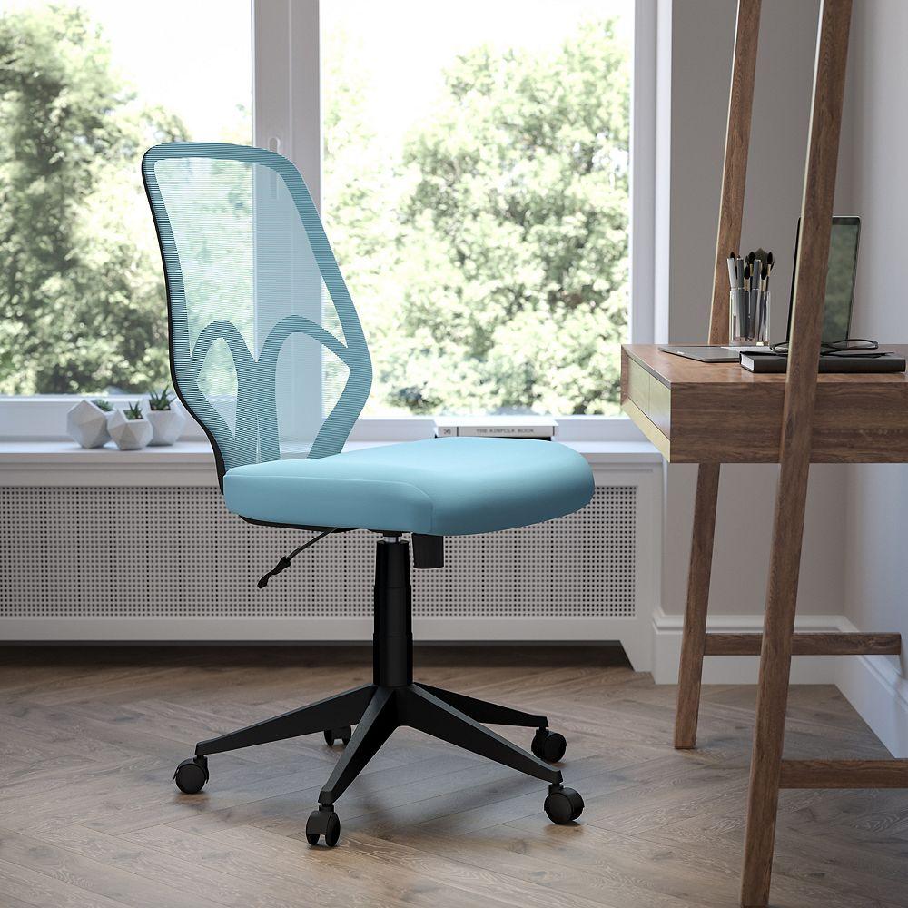 Flash Furniture Salerno Series High Back Light Blue Mesh Office Chair