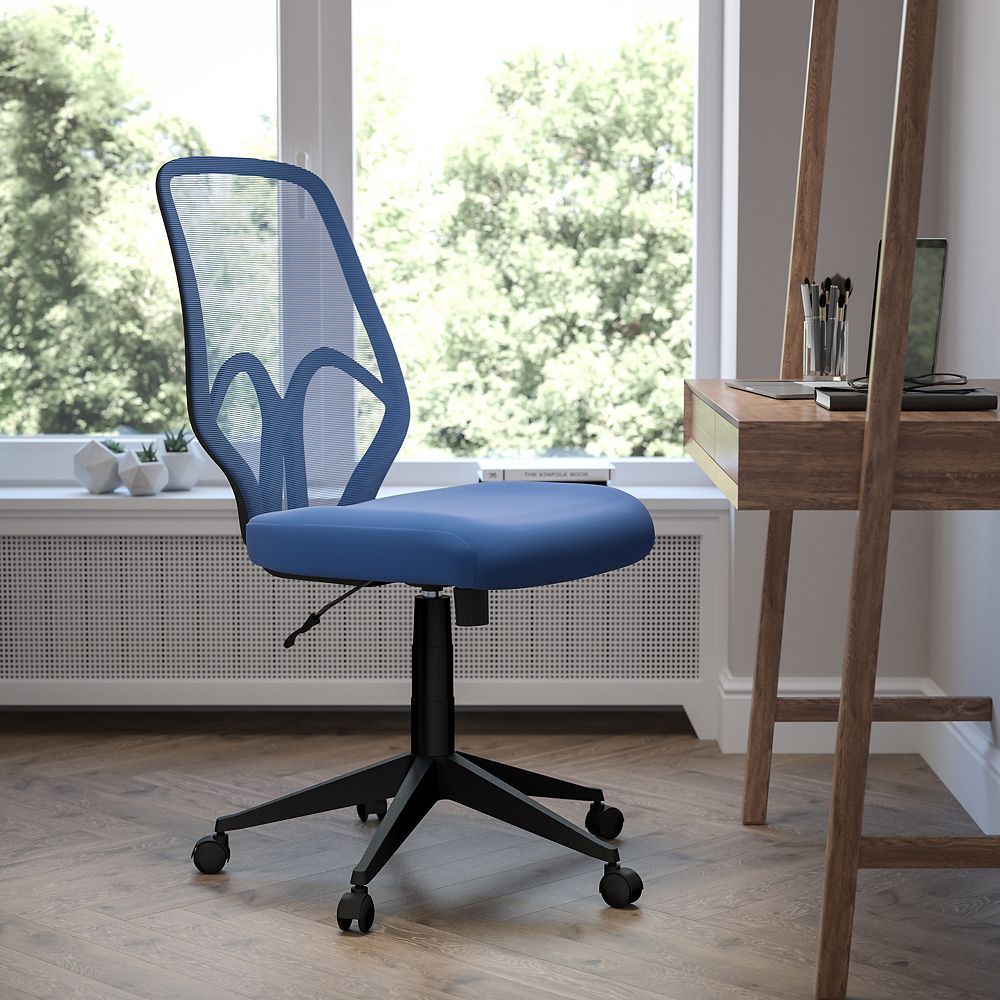 Flash Furniture Salerno Series High Back Navy Mesh Office Chair