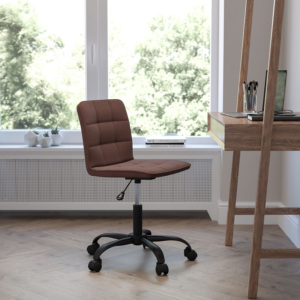Flash Furniture Sorrento Home and Office Task Chair in Brown Fabric