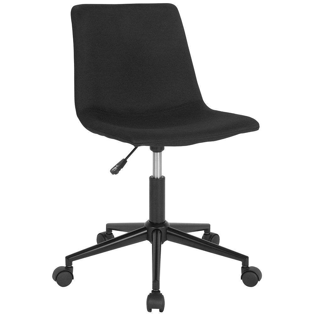 Flash Furniture Siena Home and Office Task Chair in Black Fabric