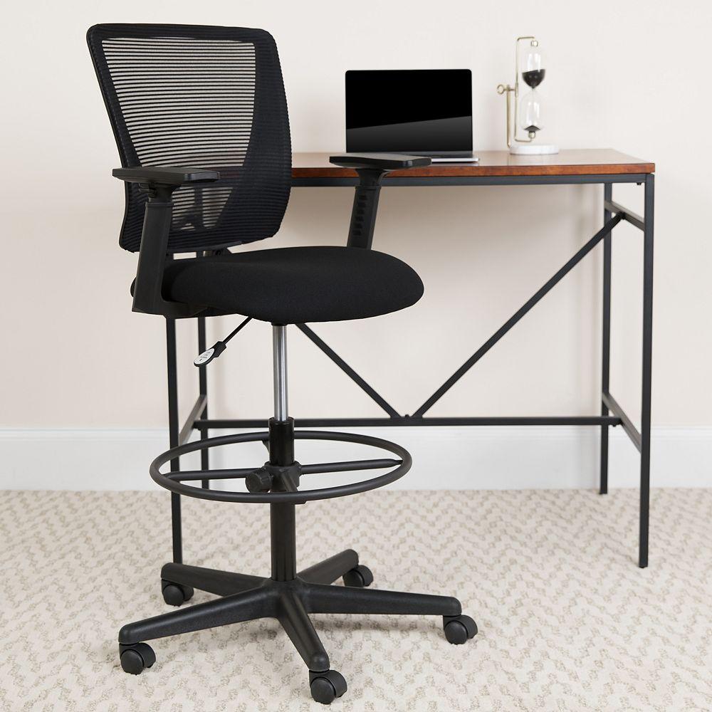 Flash Furniture Black Mesh Draft Chair w/ Arms