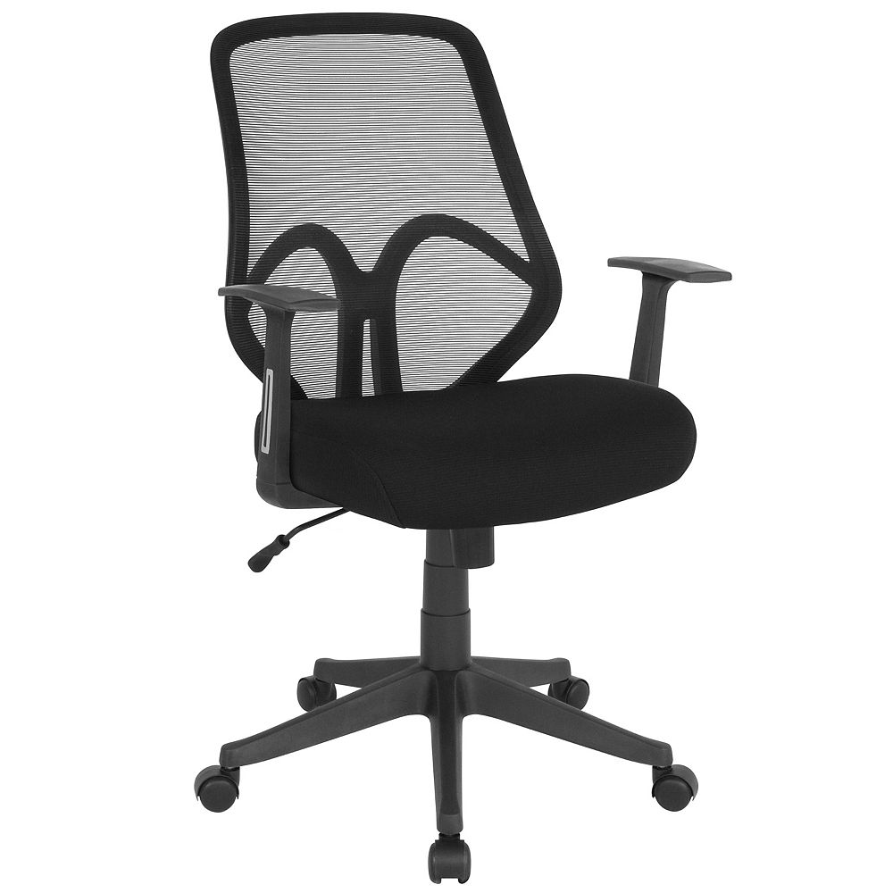 Flash Furniture Salerno Series High Back Black Mesh Office Chair with Arms
