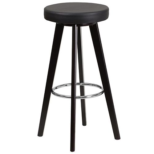 "Flash Furniture 29""H Black Vinyl Barstool"