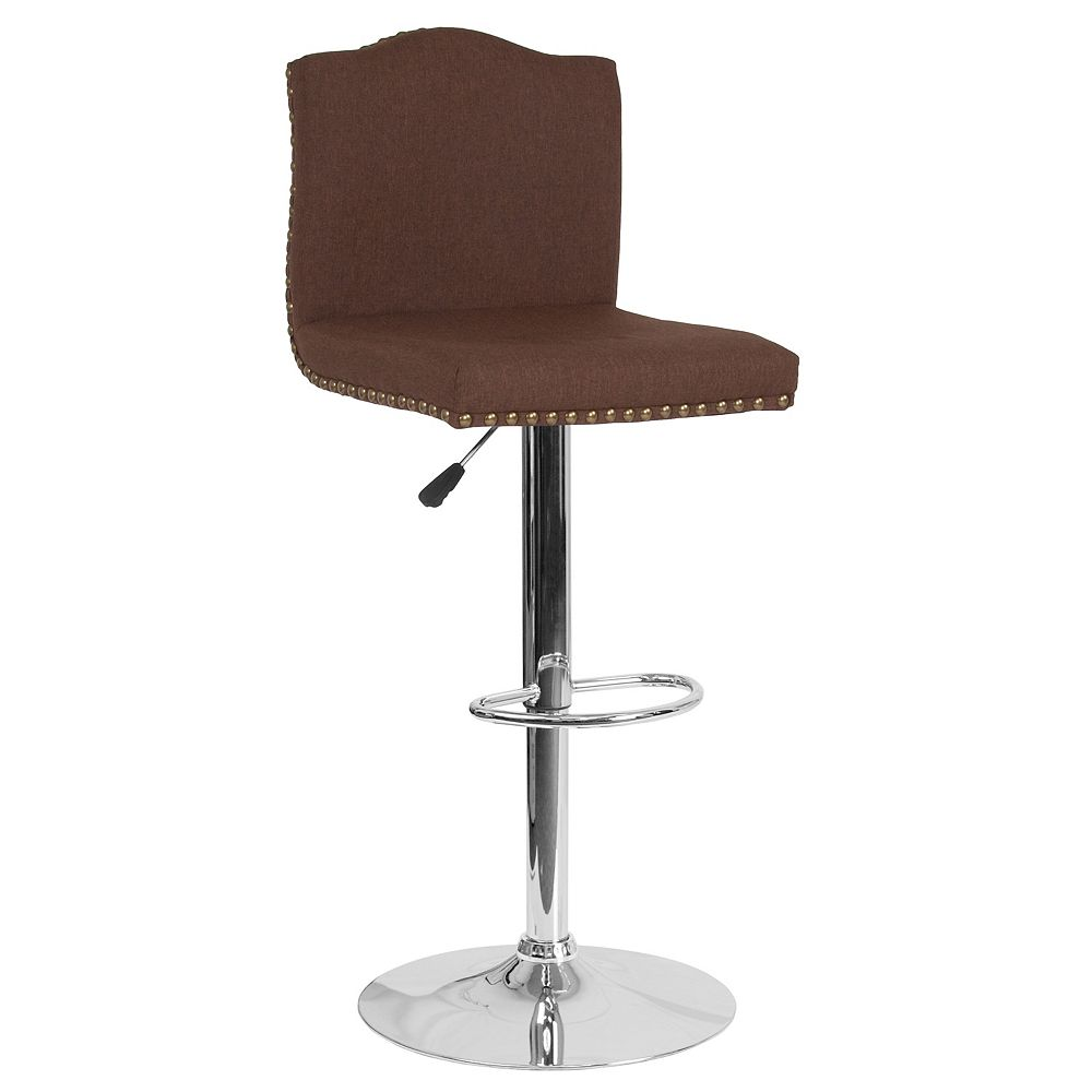 Flash Furniture Brown Fabric Barstool