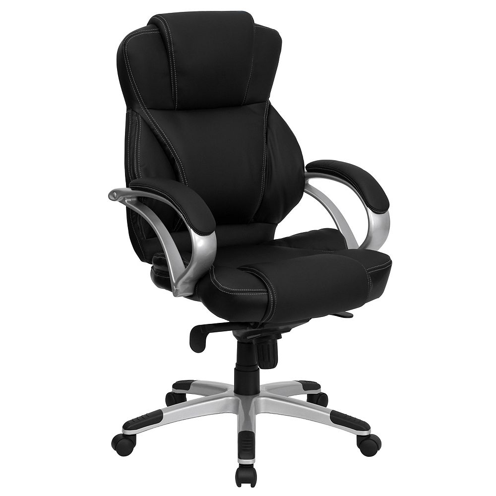 Flash Furniture High Back Black Leather Contemporary Executive Swivel Ergonomic Office Chair